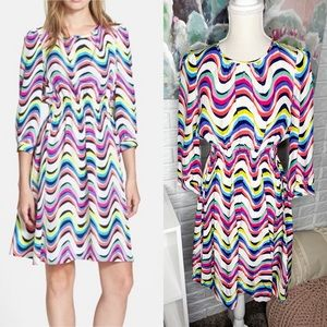 Kate Spade Zari Silk Multi Color Dress Size 4